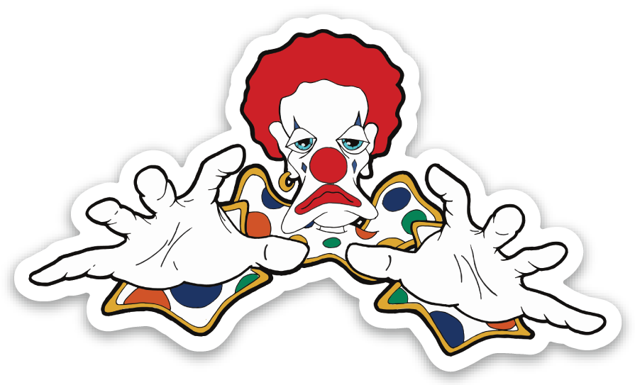 revoked scary clown sticker
