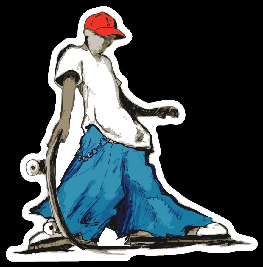 revoked 90s street skater sticker